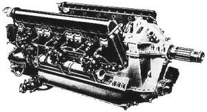 Motor Hispano Suiza V12 montado en el C.A.S.A. Breguet XIX GR Bidón (Fuente: www.aerobarbariansgrup.com)