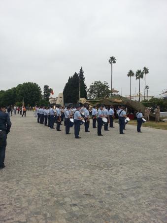 La Banda de Música del Acuartelamiento de Tablada amenizó la Jornada con Marchas Militares y Festivas