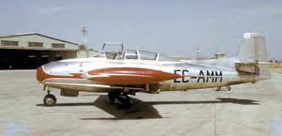 El prototipo 20/1 ya con su matrícula civil en San Pablo. El aparato muestra haber recibido algunas modificaciones en el diseño para corregir la estabilidad en el vuelo. (Archivo J. A. Guerrero)