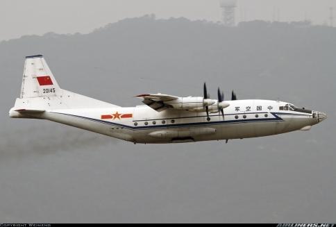 """Shaanxi Y-8C de las Fuerzas Armadas Chinas (PLAAF). Son muchísimas las versiones construidas de este gemelo del veterano """"cub"""" (Fuente: Weimeng/Airliners.net)"""