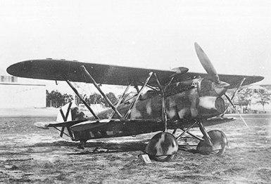 Fiat C.R.32 español. Elemento básico de la Caza nacional durante la Guerra Civil, es el antecesor del C.R.42. Fue construido bajo licencia en Sevilla por la Hispano Aviación (Fuente: www.ejercitodelaire.mde.es)
