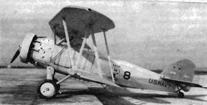 Un F8C-5 Helldiver de la Armada: Obsérvese el capó anular como diferencia más visible con versiones anteriores.