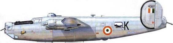 Algunos Liberators exRAF operaron en la Indian Air Force (IAF) hasta los años 60. Este B-24H operó en el 6º sqn (Fuente: Anatoli.F.Ignatiy/wp.scn.ru)