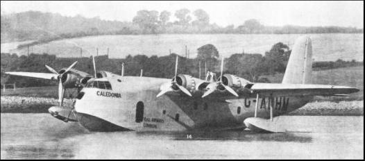 Uno de los primeros S.23 entregados a Imperial Airways fue este Caledonia. Estos hidroaviones demostraron unas excelentes prestaciones, en particular con un tiempo de despegue a plena carga de solo 21 segundos (fuente: engrailhistory.info)