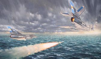 4 de mayo de 1982. Augusto Bedacarratz y Armando Mayora lanzan los mortíferos Exocet desde sus Super Étendard en busca de su objetivo: el HMS Sheffield