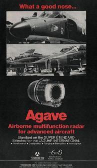 Cartel publicitario del radar Thomson-CSF Agave (Fuente: interdefensa.argentinaforo.net)