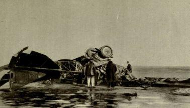 Un Gotha accidentado en Cape Gris Nez, en el Pas-de-Calais. Paradójicamente, se perdieron más Gotha en accidentes que en acciones de guerra