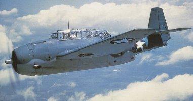 Grumman TBF-1 Avenger en pleno vuelo